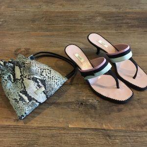 Prada ribbon sandals